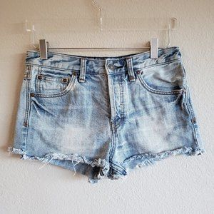 FREE PEOPLE | Distressed Jean Shorts 26